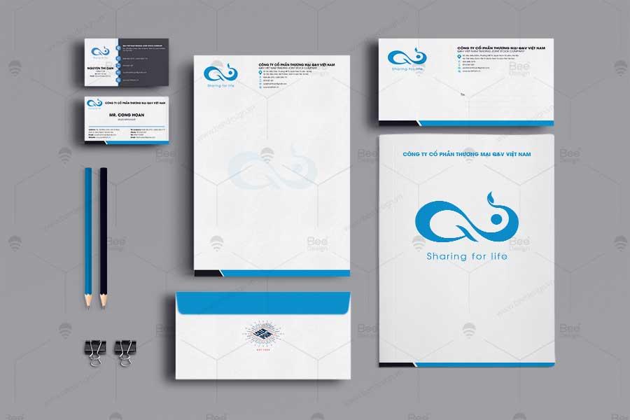 Thiết kế nhận diện thương hiệu công ty Dược phẩm Q&V Việt Nam