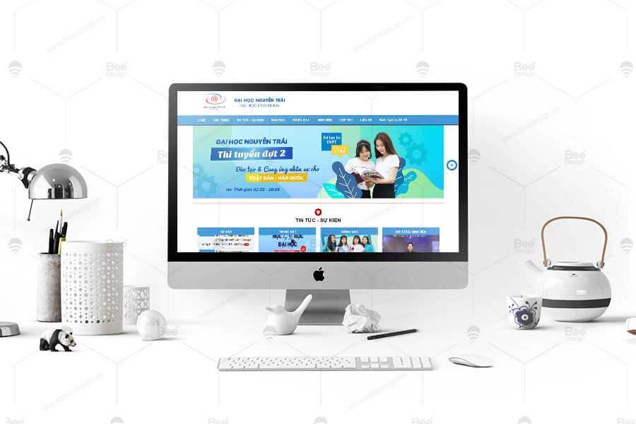 Thiết kế website trường đại học Nguyễn Trãi