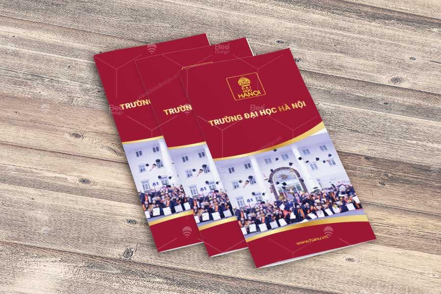 Thiết kế Brochure gấp 4 Đại học Hà Nội