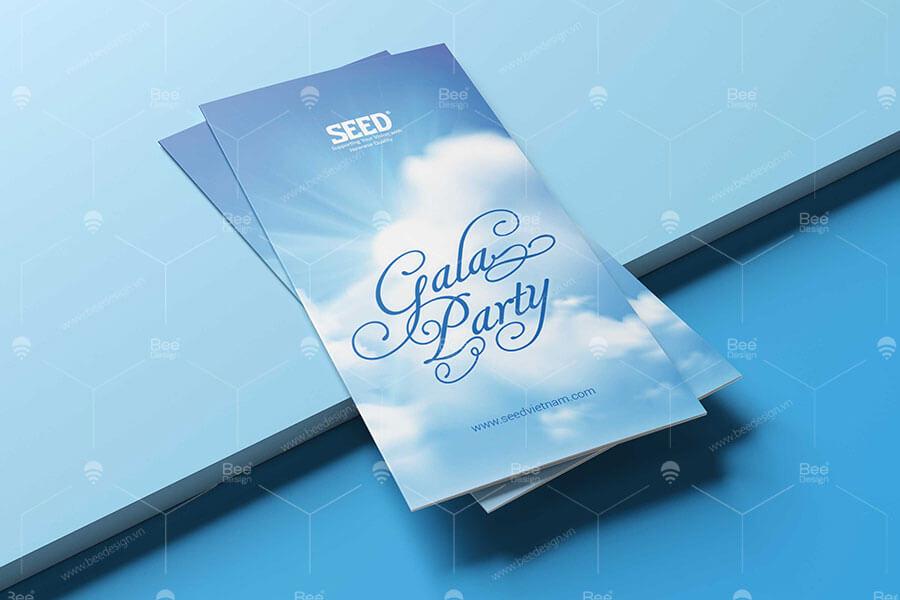 Thiết kế thư mời - Backdrop sự kiện Gala Party Seed Việt Nam
