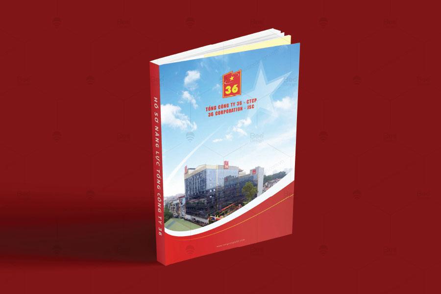 Thiết kế trang bìa Profile Tổng công ty 36